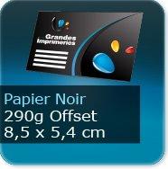 Cartes de visite Carte de visite papier noir - 85 x 54 mm 290g offset