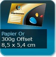Cartes de visite Carte de visite papier or - 85 x 54 mm 300g offset