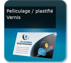 carte de visite plastique Vernis, plastifiée ou pelliculage