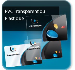 carte commerciale Carte plastique Transparente / Opaque