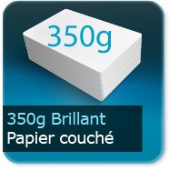 Cartes de visite 350g Brillant Couché