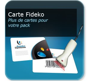 Carte de fidelité Carte plastique personnalisée FIDECO