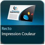 Cartes de correspondance Impression couleur au Recto - Carte sans plis 1 page