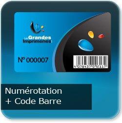 Carte de fidelité Avec numérotation R° noir + code barre