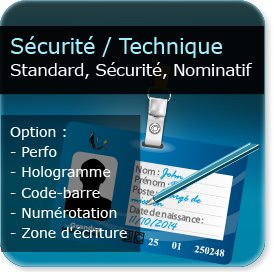 Carte Plastique De Securite Cartes Visite