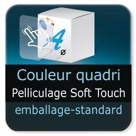 Emballage (Coffret, Boîte, carton, colis et etuis) Pelliculage Soft Touch Mat extérieur