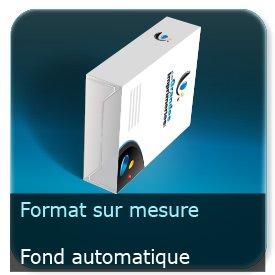 Emballage (Coffret, Boîte, carton, colis et etuis) Format personnalisé + Languette d'insertion + Fond automatique - ECMA A6020A