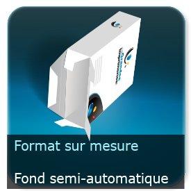 Emballage (Coffret, Boîte, carton, colis et etuis) Format personnalisé + Languette d'insertion + Fond semi-automatique -  ECMA A5520B