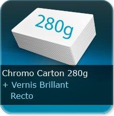 Chemises à rabats Extra epais  carton 280 gr chromo Carton + vernis UV recto