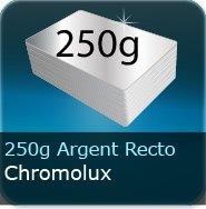 Dépliants / Plaquettes 250g Chromolux Argent recto