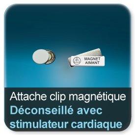 Badge Clip d'attache magnetique pour badge (Déconseillé aux personnes avec un stimulateur cardiaque)