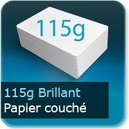 Dépliants / Plaquettes 115g Brillant Couché