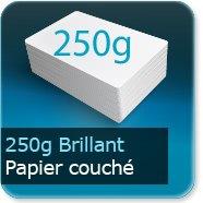 Dépliants / Plaquettes 250g Brillant Couché