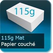 Dépliants / Plaquettes 115g Mat Couché