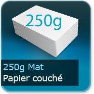 Dépliants / Plaquettes 250g Mat Couché