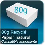Dépliants / Plaquettes 80g Recyclé Offset