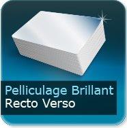 Dépliants / Plaquettes Pelliculage Brillant au Recto et Verso