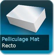 Dépliants / Plaquettes Pelliculage Mat au Recto