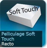 Dépliants / Plaquettes Pelliculage Soft touch Mat au Recto