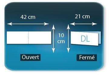 Dépliants / Plaquettes Ouvert 10 x 42 cm - Fermé DL  10 x 21 cm