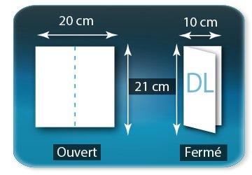 Dépliants / Plaquettes Ouvert 20 x 21 cm - Fermé DL  10 X 21 cm