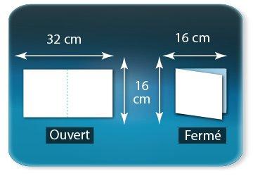 Dépliants / Plaquettes Ouvert 16 x 32 cm - Fermé 16 x 16 cm