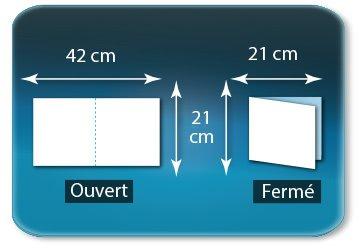 Dépliants / Plaquettes Ouvert 21 x 42 cm - Fermé 21 x 21 cm
