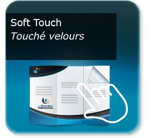 model depliant evenement Pelliculage Mat SOFT TOUCH