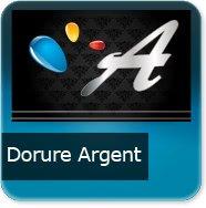 Cartes de visite Dorure Argent