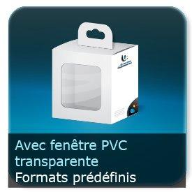 Emballage (Coffret, Boîte, carton, colis et etuis) Format standards avec fenêtre PVC