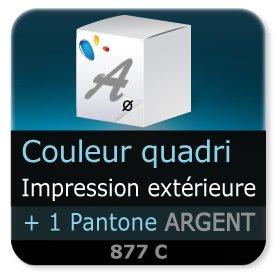 Emballage (Coffret, Boîte, carton, colis et etuis) Impression extérieur couleur quadri + 1 PANTONE Argent