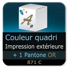Emballage (Coffret, Boîte, carton, colis et etuis) Impression extérieur couleur quadri + 1 PANTONE Or