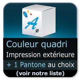 Emballage (Coffret, Boîte, carton, colis et etuis) Impression extérieur couleur quadri + 1 PANTONE aux choix (voir notre liste)