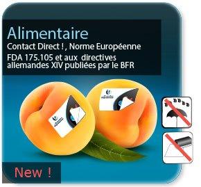 Autocollant & Étiquette Etiquette alimentaire papier blanc pour contact alimentaire direct