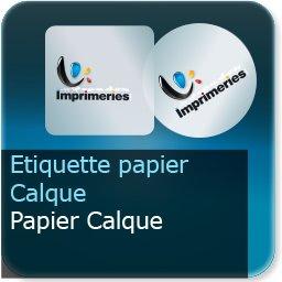 Autocollant & Étiquette Papier Calque