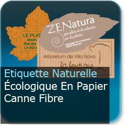 Autocollant & Étiquette style naturelle & écologique