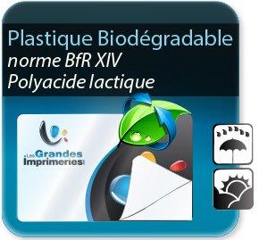 Autocollant & Étiquette Etiquette plastique biodégrable & écologique - polyacide lactique - norme bfrXIV (aspect plastique)