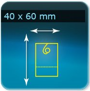 Autocollant & Étiquette 40x60mm