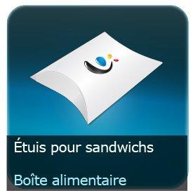 Emballage (Coffret, Boîte, carton, colis et etuis) Etuit pour sandwitch alimentaire carton personnalisé 360g Delipac (Résistant aux huiles, recyclable, compostable et biodégradable)