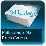 Cartes de correspondance Pelliculage Mat Recto Verso