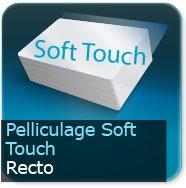 Cartes de correspondance Pelliculage Soft Touch velours Recto