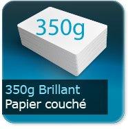 Cartes de correspondance 350g couché brillant