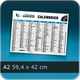 Calendriers A2 594x420mm