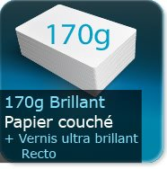 Affiches 170g couché brillant + Vernis Brillant UV au Recto
