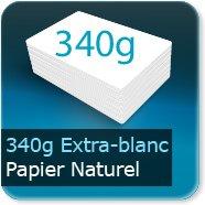 Cartes de correspondance 340g Extra Blanc