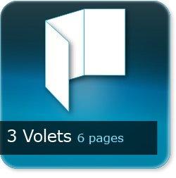 Dépliants / Plaquettes 3 volets - 6 pages - Impression Couleur Recto et Verso quadri