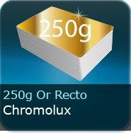 Dépliants / Plaquettes 250g Chromolux Or recto