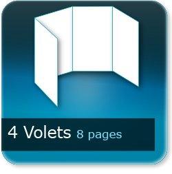 Dépliants / Plaquettes 4 volets - 8 pages - impression Couleur Recto et Verso quadri