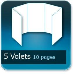 Dépliants / Plaquettes 5 volets - 10 pages - impression Couleur Recto et Verso quadri
