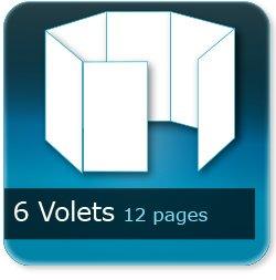 Dépliants / Plaquettes 6 volets - 12 pages - impression Couleur Recto et Verso quadri